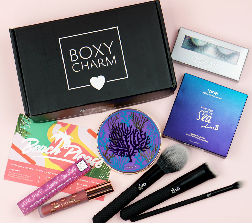 boxycharm august 2017 review tarte coupon savvy subscription