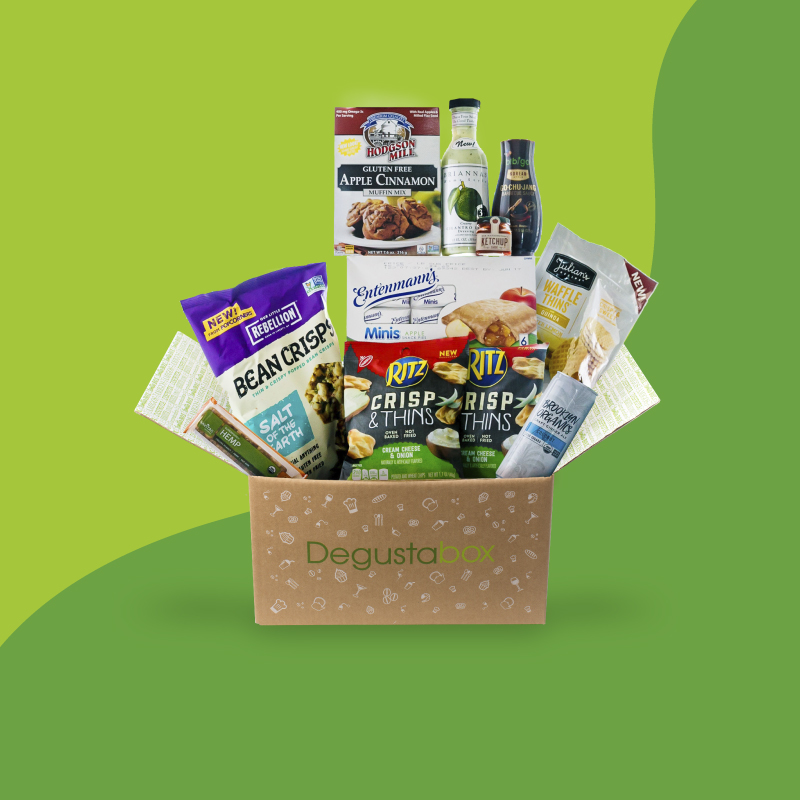 Degustabox may 2018 spoiler 2 50 off coupon free bonus item degustabox is a monthly food subscription box that includes 9 14 snacks from your favorite brands and exciting new products not even in stores yet negle Choice Image