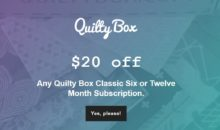 Quilty Box Coupon – $20 Off 6 or 12 Month Quilty Classic Box Subscription!
