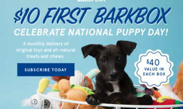 BarkBox Coupon – Get Your First Box For $10!