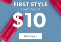 JustFab Memorial Day Sale – First Style Only $10!
