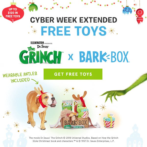 Extended Barkbox Cyber Monday Sale 2018 Free Bonus Toys For Life