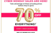 Fabletics Cyber Monday Sale 2018 – Save 70% Off Everything!!