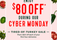 Hello Fresh Cyber Monday Sale 2018 – $80 OFF Your First 4 Boxes!