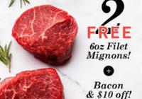 Butcher Box Coupon – FREE Filet Mignon & Bacon + $10 Off!