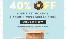 The Honest Company Coupon – Save 40% Off Your First Diapers & Wipes Bundle