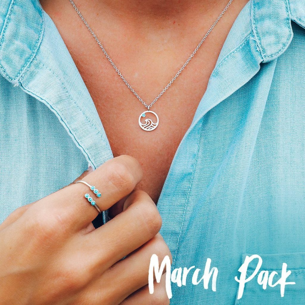 If you sign up for Pura Vida Jewelry Club now, your first box will be March 2019 and will include–