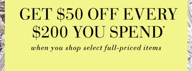 Saks Fifth Avenue Coupon – Get $50 Off Every $200!