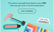 Birchbox Coupon – FREE Jouer Cosmetics Creme Liquid Lipstick!