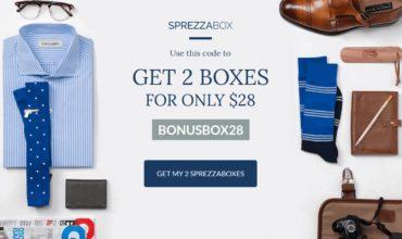 SprezzaBox Coupon – Get A FREE Bonus Box!!