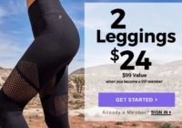 Fabletics Coupon – Get 2 Pairs Of Leggings For $24!