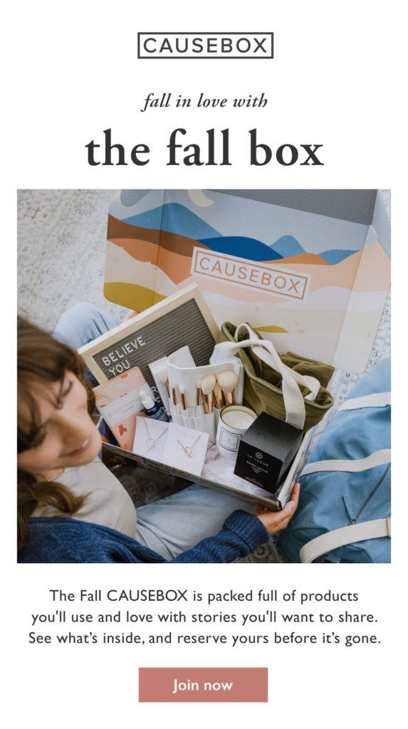Causebox Fall 2019 Spoilers