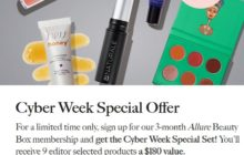 Allure Beauty Box Cyber Monday Deal – $10 First Box + FREE $180 Bundle!