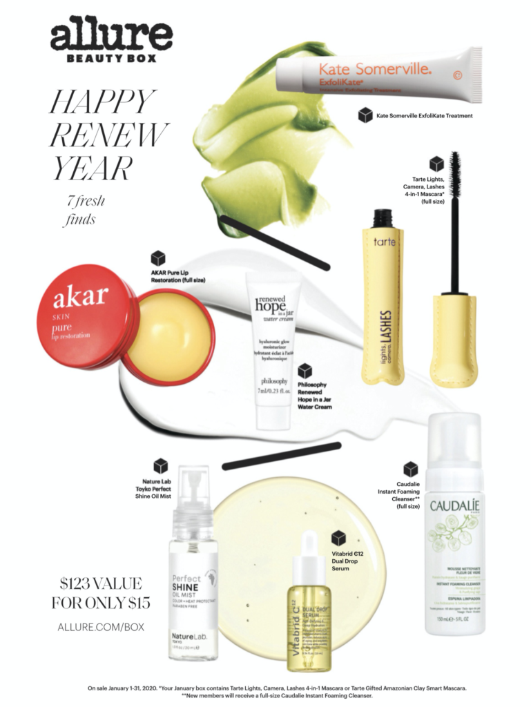 Allure Beauty Box January 2020 Spoilers