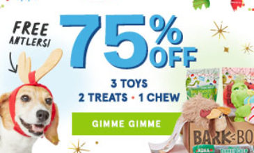 BarkBox Cyber Monday Deal – $5 First Box + FREE Extra Toy & Antlers!