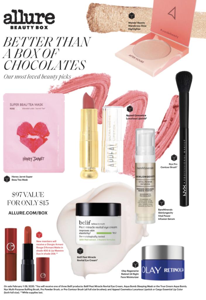 Allure Beauty Box February 2020 Spoilers