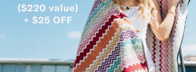 Box Of Style Coupon – FREE Missoni Towel + $25 Off First Box!
