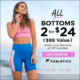Fabletics Coupon – All Bottoms 2 For $24!